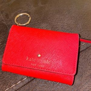 👛 KATE SPADE COIN PURSE WALLET KEY HOLDER RED